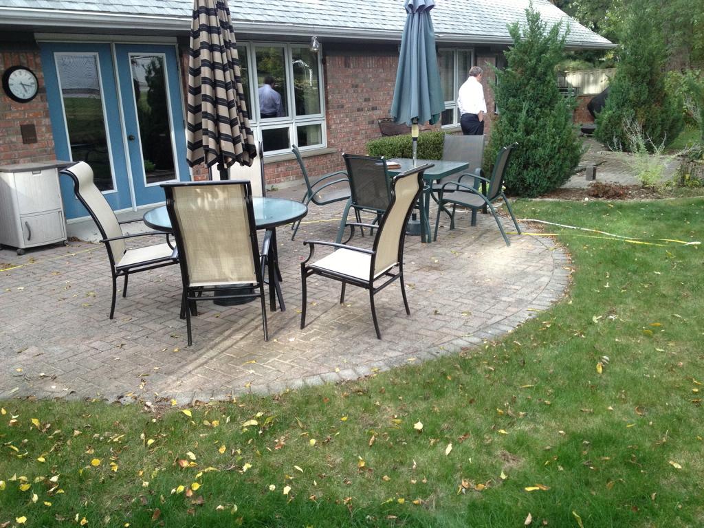 Home garden with patio