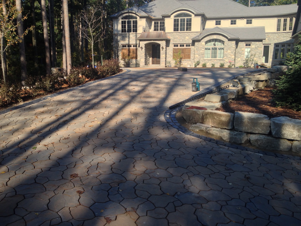 Patio and drive way