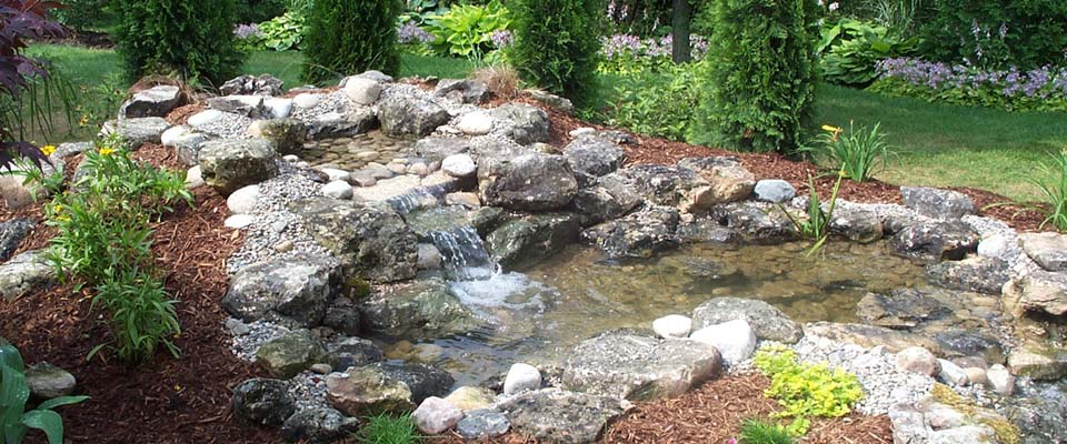 Small waterfall and pond