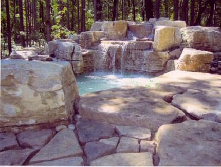Stone wall pool