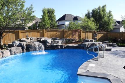 Waterfall into pool